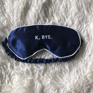 Blue Silk Sleep Mask